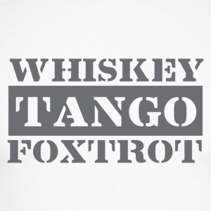 Dance tango, drink whiskey, dance Foxtrot - Men's Long Sleeve Baseball T-Shirt