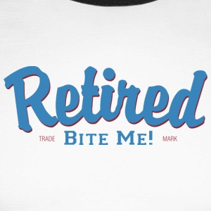 Retired Bite Me - T-shirt baseball manches longues Homme