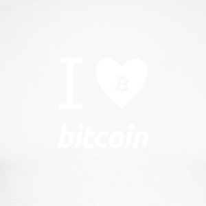 I love bitcoin - Men's Long Sleeve Baseball T-Shirt