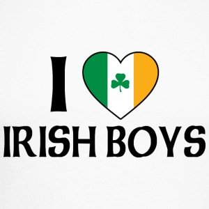 I Love Irish Boys - Men's Long Sleeve Baseball T-Shirt