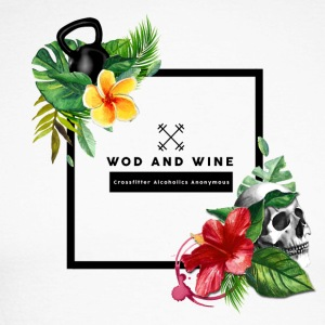 WOD and WINE - Crosfitter Alcoholics Anonymous - Maglia da baseball a manica lunga da uomo