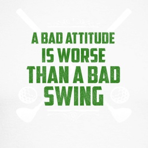 A bad attitude is bad golf - Men's Long Sleeve Baseball T-Shirt