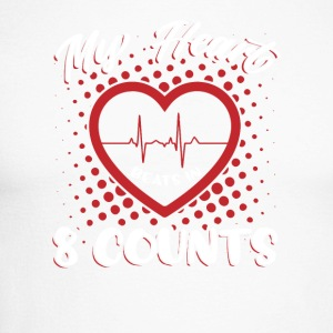 My Heart Beats In 8 Counts - Männer Baseballshirt langarm