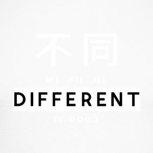 Different is good white - Men's Long Sleeve Baseball T-Shirt