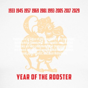 Year of The Rooster Traits Characteristics - Men's Long Sleeve Baseball T-Shirt