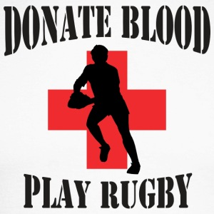 Rugby Donate Blood Play Rugby - Men's Long Sleeve Baseball T-Shirt