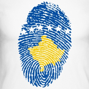 KOSOVO FINGERPRINT T-SHIRT. - Men's Long Sleeve Baseball T-Shirt