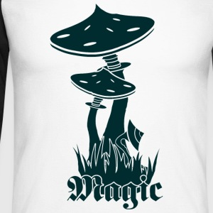 magic Mushrooms - Maglia da baseball a manica lunga da uomo