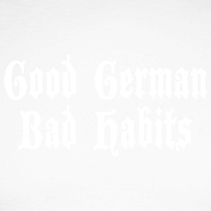 Good German Bad Habits - Miesten pitkähihainen baseballpaita