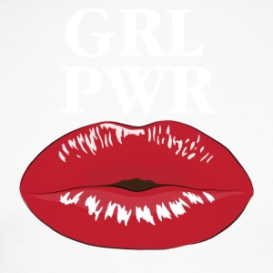 GRL PWR Girl Power Kiss T-Shirt - Männer Baseballshirt langarm