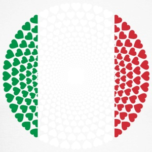 Italy Italy Italia HEART Mandala - Men's Long Sleeve Baseball T-Shirt