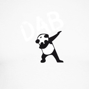 Dab Panda dabbing hiphop Football Dance LOL touchd - Men's Long Sleeve Baseball T-Shirt