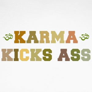 Karma Kicks Ass - Langermet baseball-skjorte for menn