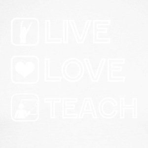 Teacher Live Love Teach - T-shirt baseball manches longues Homme