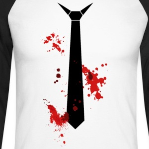 bloody tie - Men's Long Sleeve Baseball T-Shirt