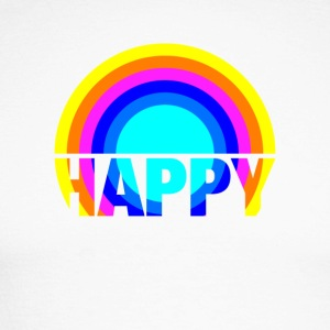 Happy Rainbow Gay Pride Rainbow Art Design - Men's Long Sleeve Baseball T-Shirt