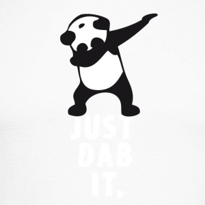 dab just panda dabbing dub dance cool LOL funny - Men's Long Sleeve Baseball T-Shirt