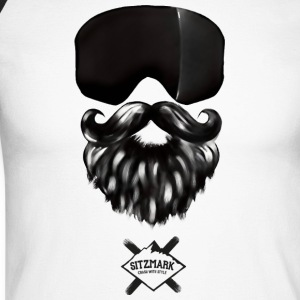 masque Barbe - T-shirt baseball manches longues Homme
