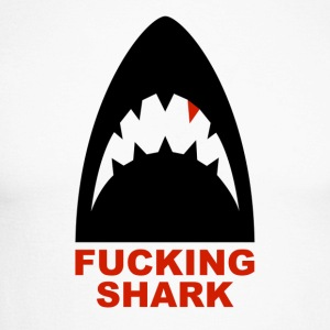 FUCKING SHARK - Langermet baseball-skjorte for menn