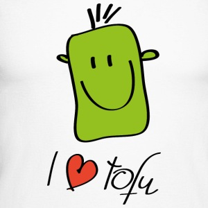 I love tofu - Men's Long Sleeve Baseball T-Shirt