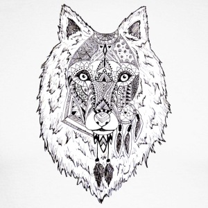 Hand drawn pattern WOLF - Men's Long Sleeve Baseball T-Shirt