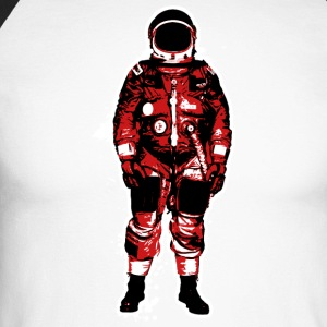 Astronaut Red Grunge - Men's Long Sleeve Baseball T-Shirt