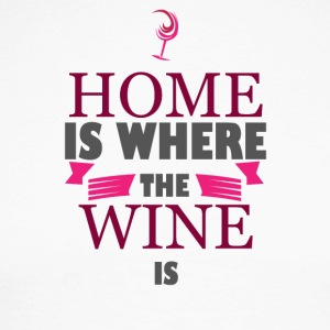 For wine lovers: Home is where the wine is - Men's Long Sleeve Baseball T-Shirt