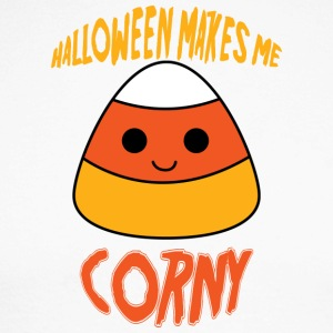 Halloween: Halloween Makes Me Corny - Men's Long Sleeve Baseball T-Shirt