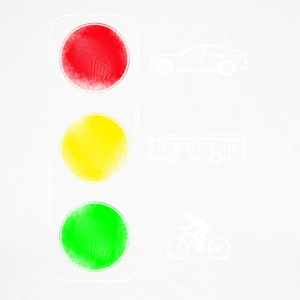 Traffic lights, Car, Bus, Bicycle - Men's Long Sleeve Baseball T-Shirt