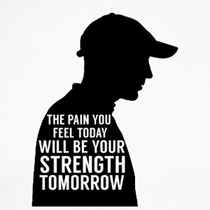 Baseball: The pain you feel today will be your - Men's Long Sleeve Baseball T-Shirt
