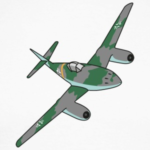 Me262 Fighter Jet - Langermet baseball-skjorte for menn