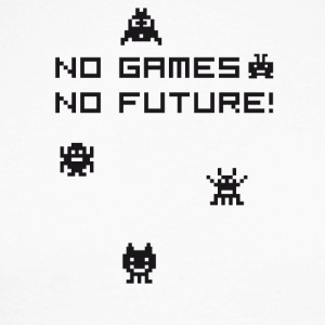 No games no future Nerd 8bit pc geek tetris Play l - Men's Long Sleeve Baseball T-Shirt