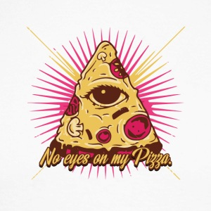 No eyes on my pizza - illuminati - eye - Men's Long Sleeve Baseball T-Shirt