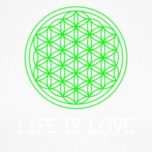 Life flower Flower of life Life is love - Men's Long Sleeve Baseball T-Shirt