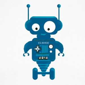Robot cute small toy AI auto lo - Men's Long Sleeve Baseball T-Shirt