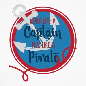 Sailing: Work like a captain, play like a pirate - Men's Long Sleeve Baseball T-Shirt