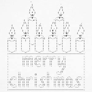 Isle of ASCII Candles - Langermet baseball-skjorte for menn