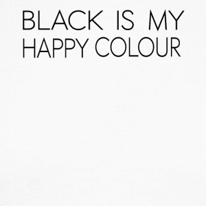 black_is_my_happy_color - Maglia da baseball a manica lunga da uomo