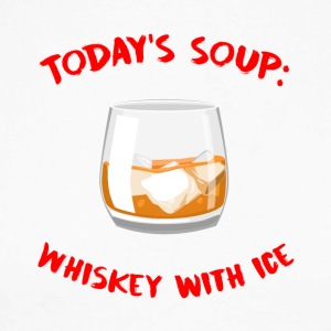 Whiskey - Today's Soup: Whiskey with Ice - Men's Long Sleeve Baseball T-Shirt