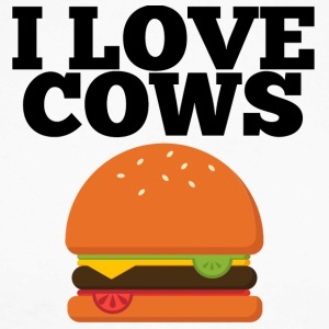 Cow / Farm: I Love Cows - Men's Long Sleeve Baseball T-Shirt