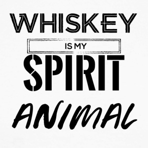 Whiskey is my Spirit Animal - Men's Long Sleeve Baseball T-Shirt