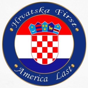 Hrvatska first - Men's Long Sleeve Baseball T-Shirt