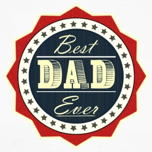 Best Dad Ever - Men's Long Sleeve Baseball T-Shirt