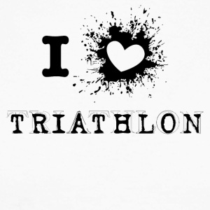 iLove Triathlon - Langermet baseball-skjorte for menn