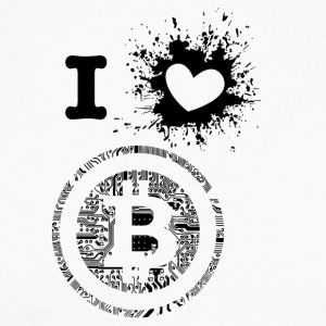iLove Bitcoin - T-shirt baseball manches longues Homme