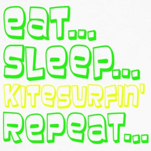 EAT SLEEP KITESURFING REPEAT - Men's Long Sleeve Baseball T-Shirt