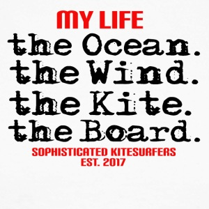 MY LIFE - the ocean the wind the kite the board - Men's Long Sleeve Baseball T-Shirt
