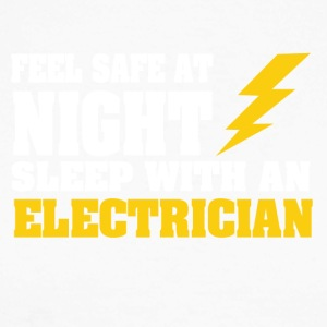 Sleep with an ELECTRICIAN - Men's Long Sleeve Baseball T-Shirt