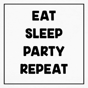 Eat, Sleep, Party, Repeat! - Langermet baseball-skjorte for menn