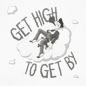 Get high to get by - Men's Long Sleeve Baseball T-Shirt